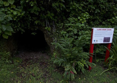 Entrance to the extensive caves