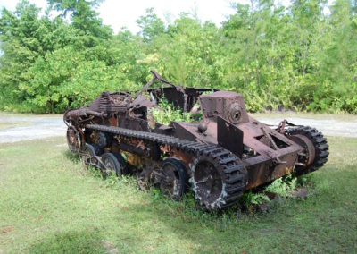 A Japanese tank; it would have held three people.