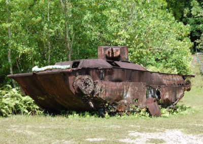 An American tank- amazingly one axel still turned!