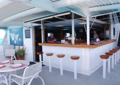 A bar - even though we didn't drink much at all, and never before a dive!