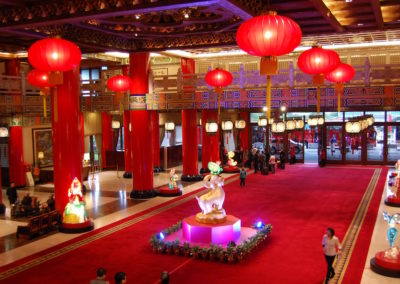 Chinese New Year is on February 18th, so we were lucky enough to see the preparations for the big event.