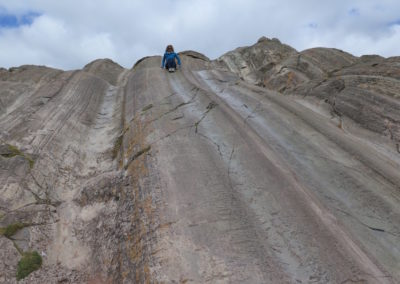 A natural playground from volcanic rock and made slippery from much use, we couldn't help but slide down it ourselves.